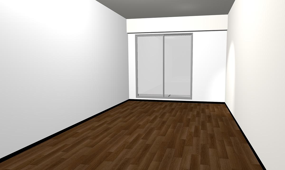 ダークブラウンの床