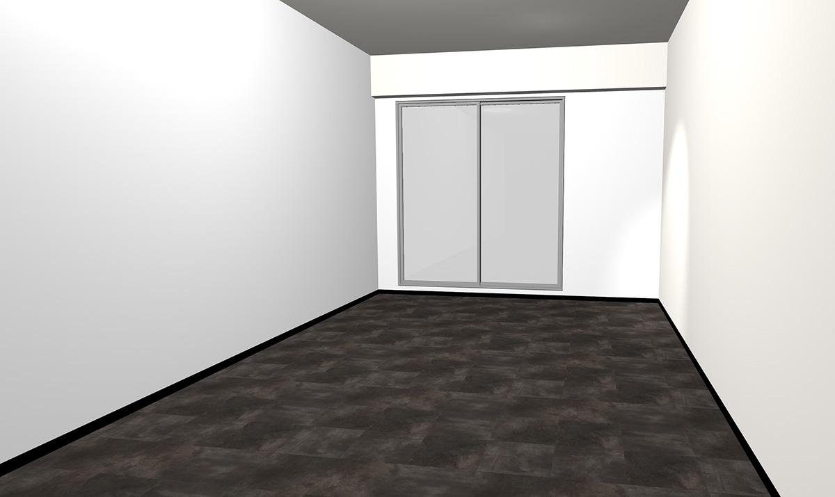 暗いグレーのコンクリート調床