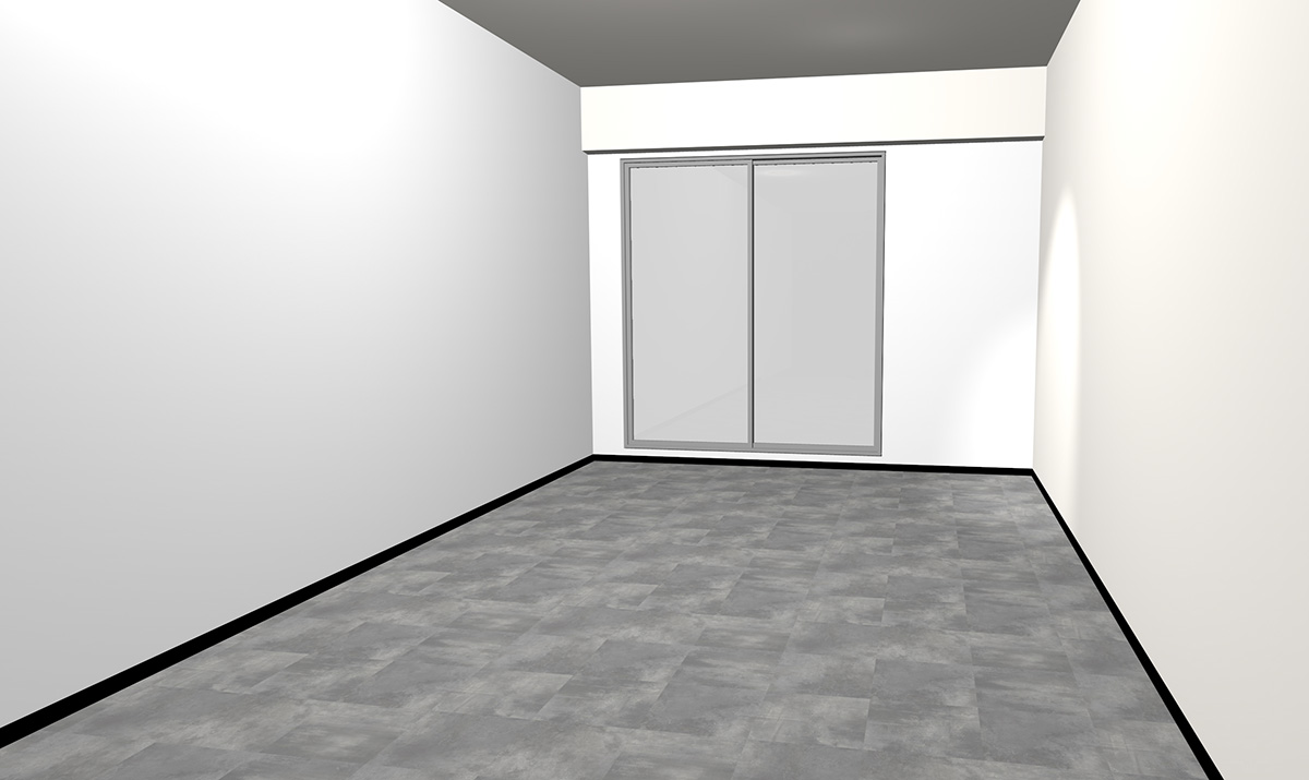薄いグレーのコンクリート調床