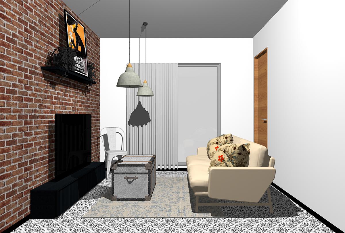 内装と家具をヴィンテージでまとめたインテリア