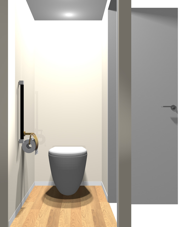 壁がベージュ・イエロー系一色のトイレ