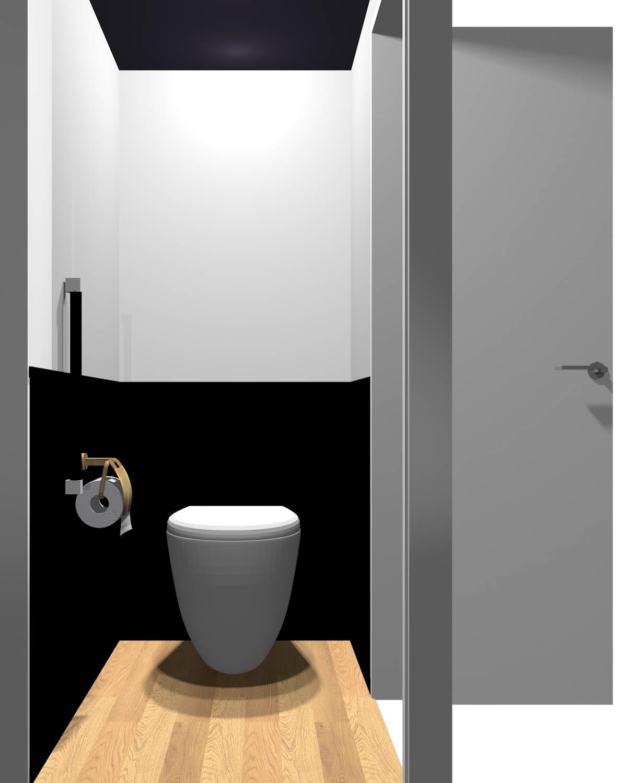 腰より下が暗いトイレ(床が明るい)