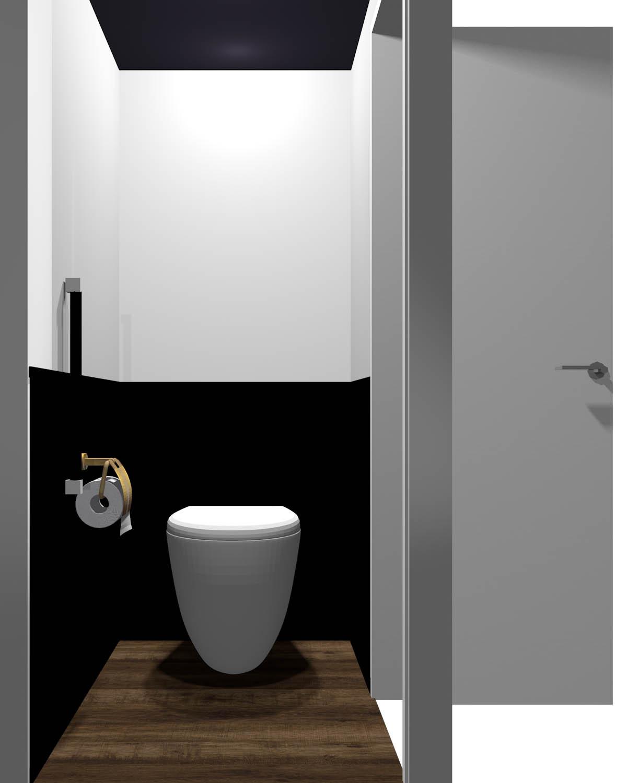 腰より下が暗いトイレ(床が暗い)