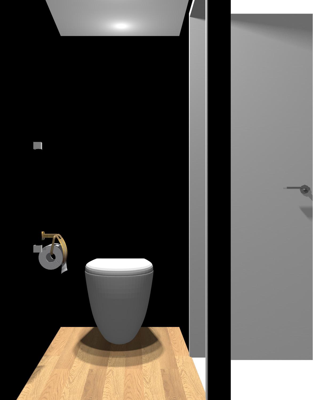 壁がブラック系のトイレ