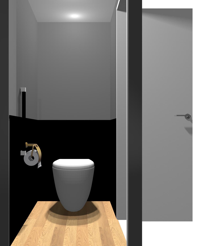 壁がダークグレー×ブラックのトイレ