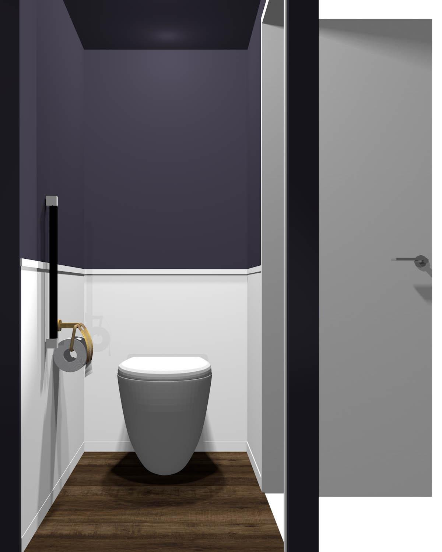 腰より上が暗いトイレ(床が暗い)