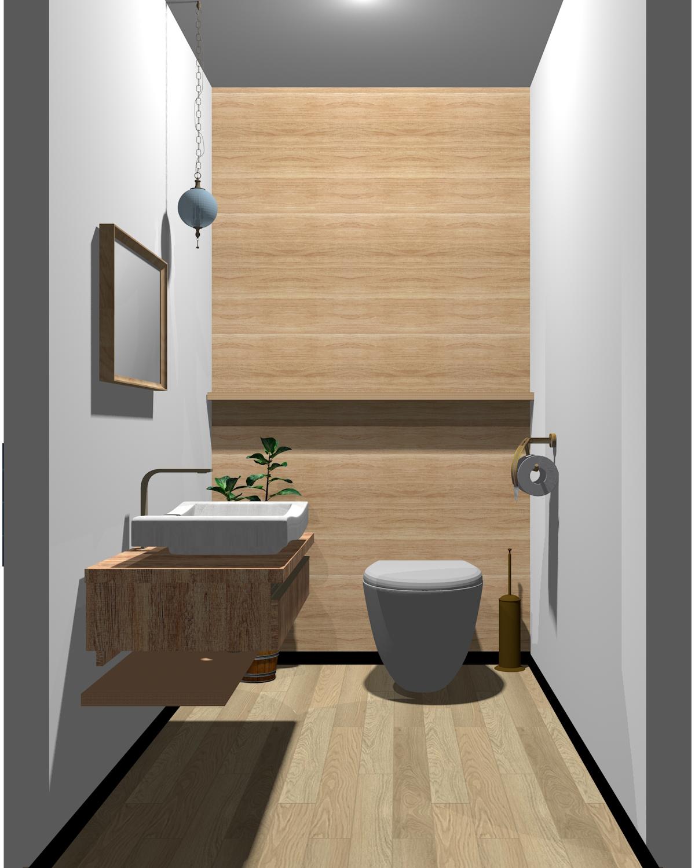 ブラウン×ホワイト配色のトイレ