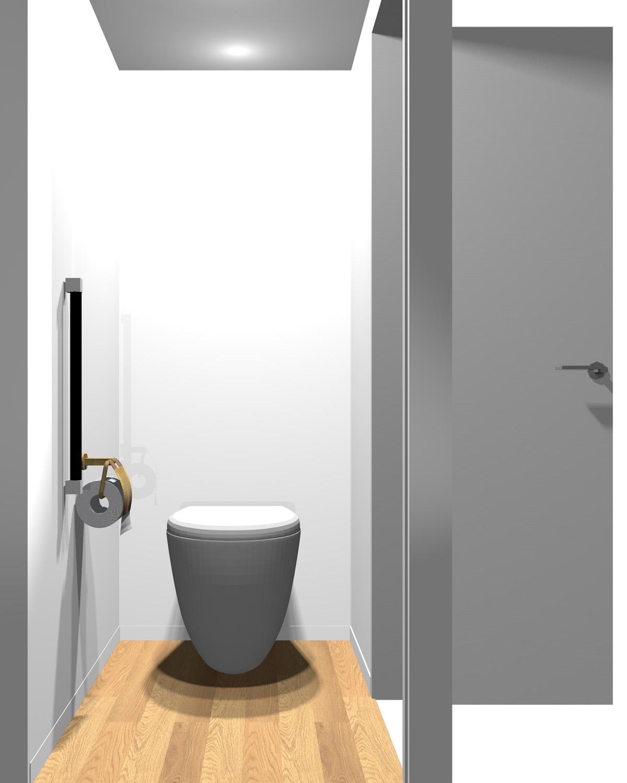 壁がホワイト系一色のトイレ