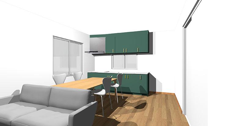 緑のキッチン