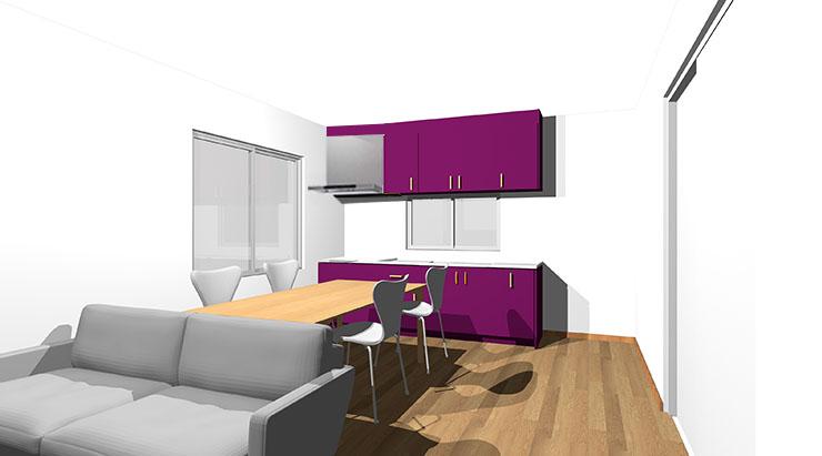 紫のキッチン