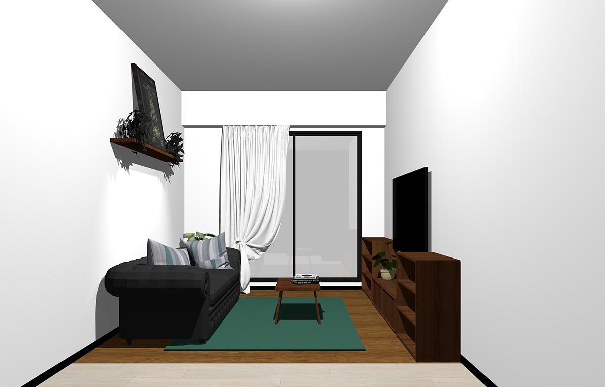 コンパクトな家具のコーディネート