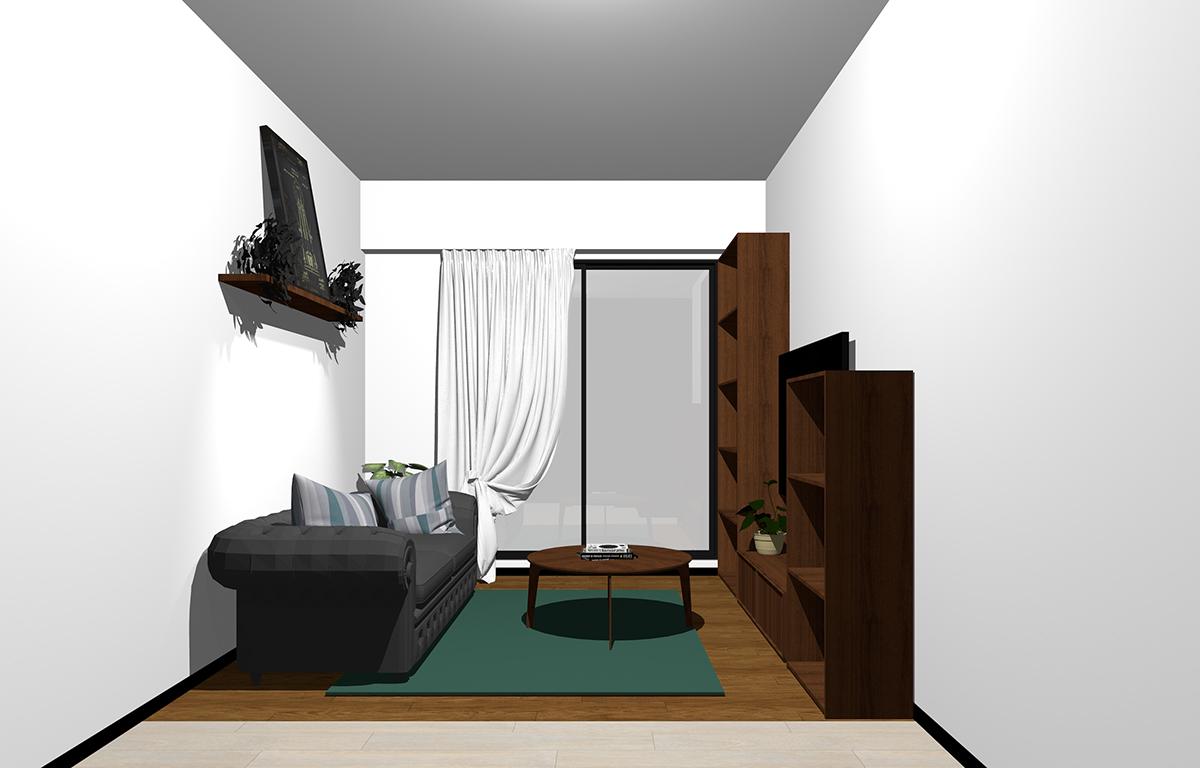 狭い部屋(4畳半)のインテリア