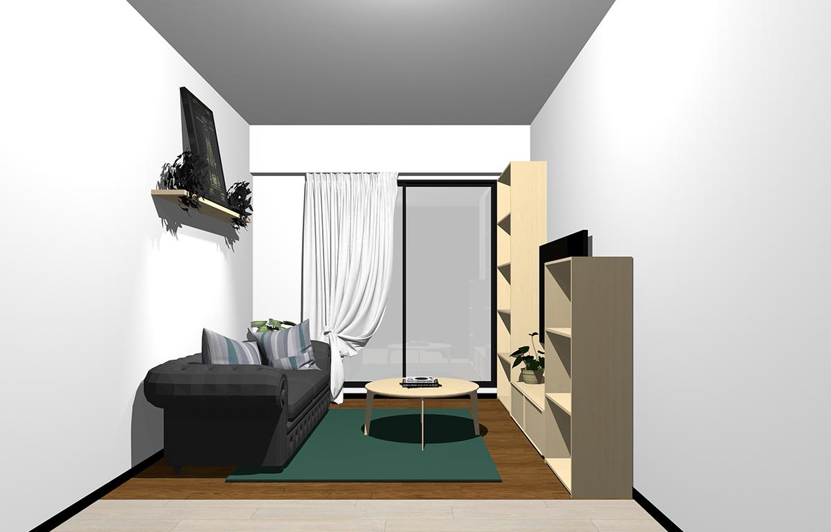 家具が薄い茶色のコーディネート