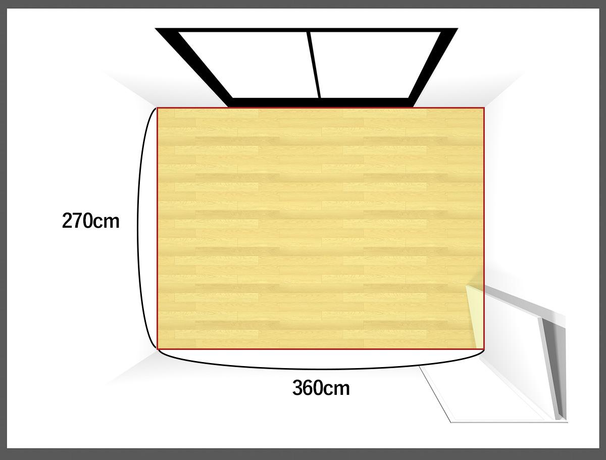 6畳のダイニングルーム