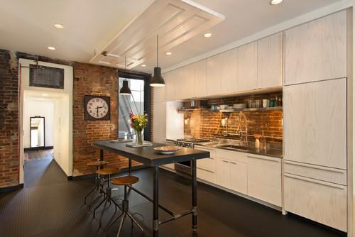 木目キッチンインテリア-3つの床色と3つのスタイル別実例82選