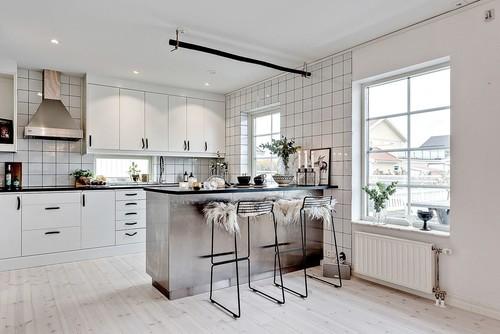 タイル壁をおしゃれに活用!!センスのある北欧キッチン実例57選