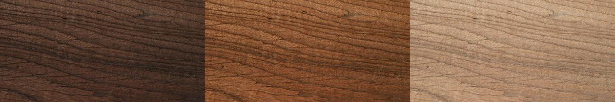 家具の色3種類