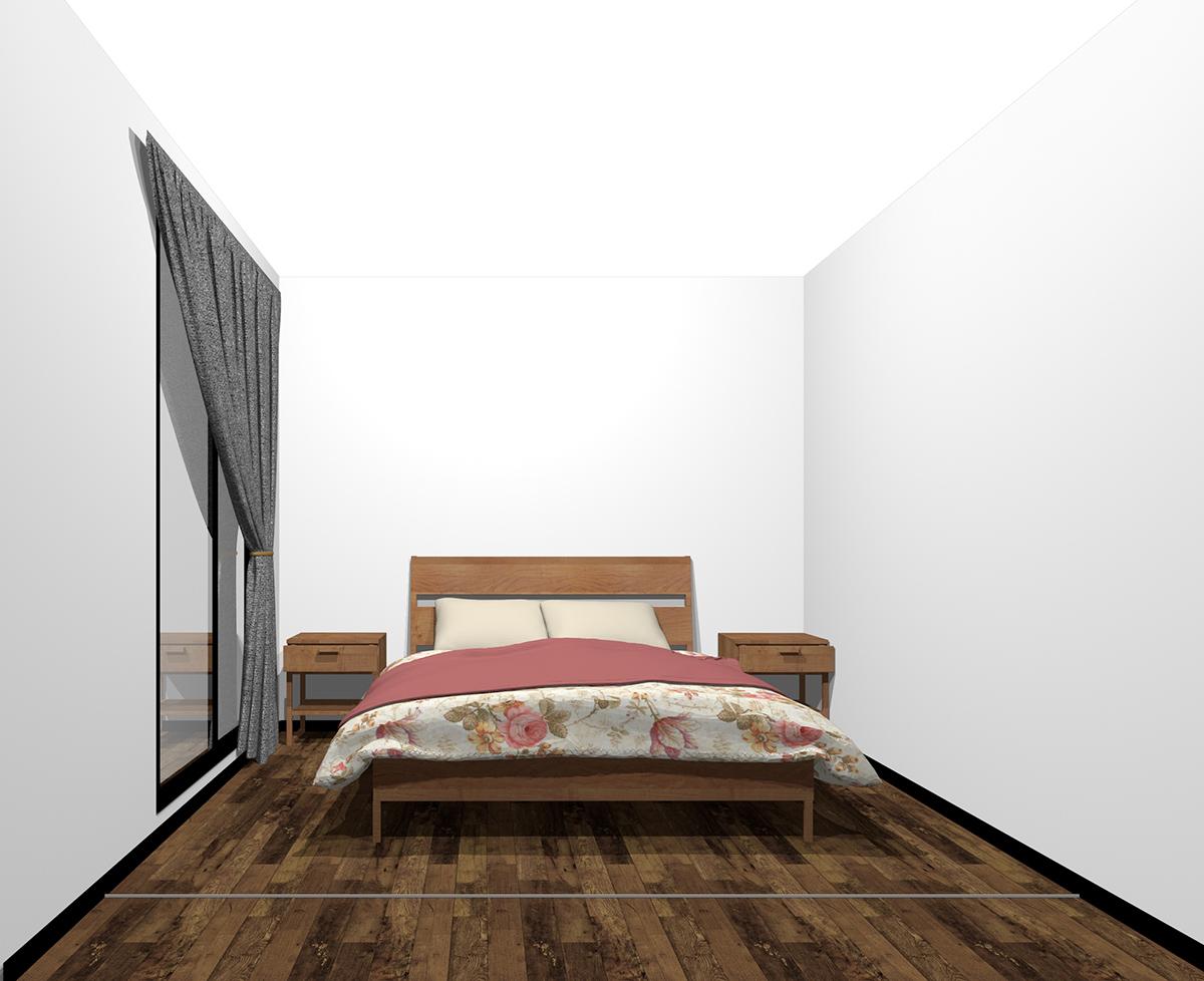 ベッドとナイトテーブル2個