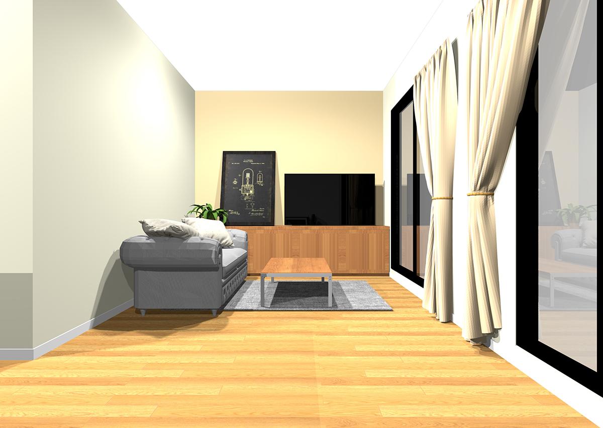 安心感があり飽きが来ないリビングの壁紙と家具の組み合わせ