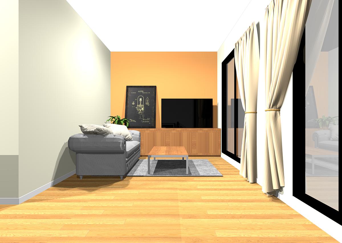 暖かく団らんを感じるリビングの壁紙と家具の組み合わせ